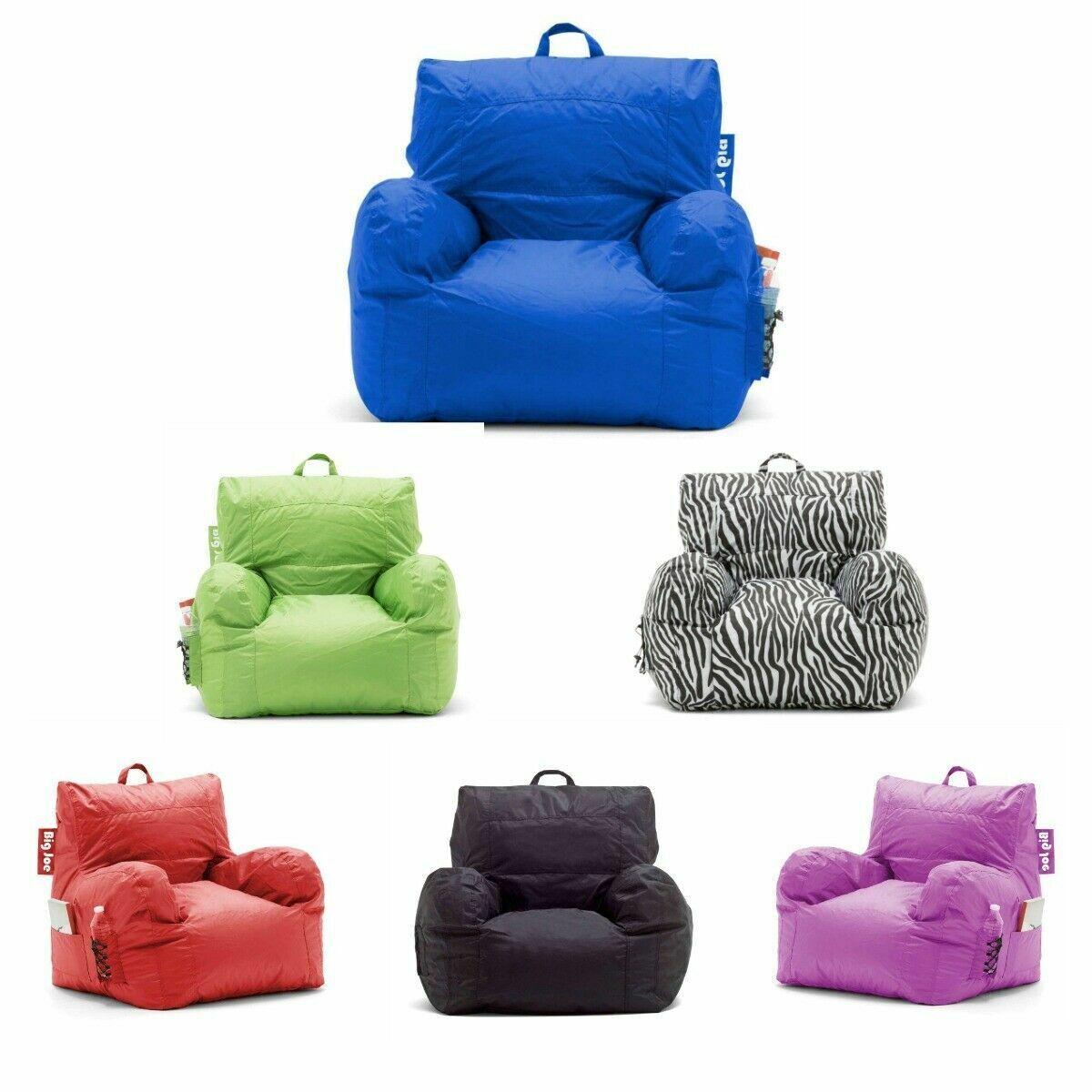 Big Joe Bean Bag Chair Comfort Dorm Cupholder Waterproof Sof