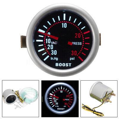 Universal 2″ 52mm Car LED Turbo Boost Pressure Gauge 30 Psi Meter Pointer