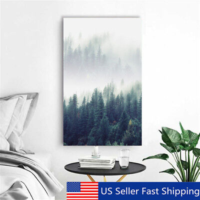 Modern Abstract Forest Tree Canvas Print Art Painting Home Wall Decor   Abstract Art Canvas Print