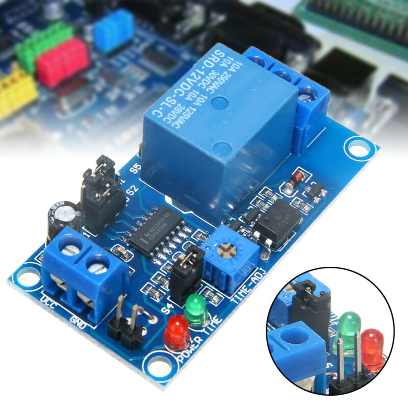 DC 12V Time Delay Relay Module Circuit Timer Timing Board Sw