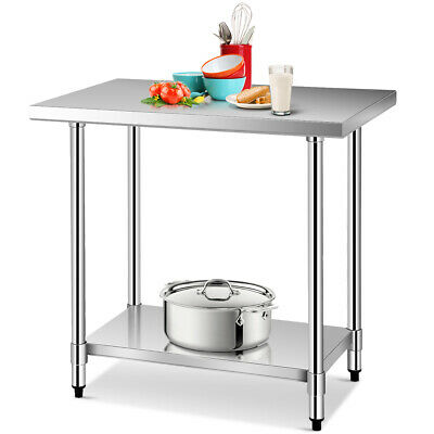 24 X 36 Stainless Steel Food Prep Work Table Commercial Kitchen Worktable