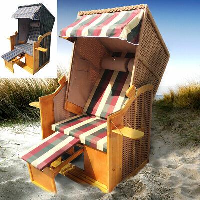 Strandkorb Helgoland 2-Sitzer für 2 Personen Volllieger Gartenliege Poly-Rattan