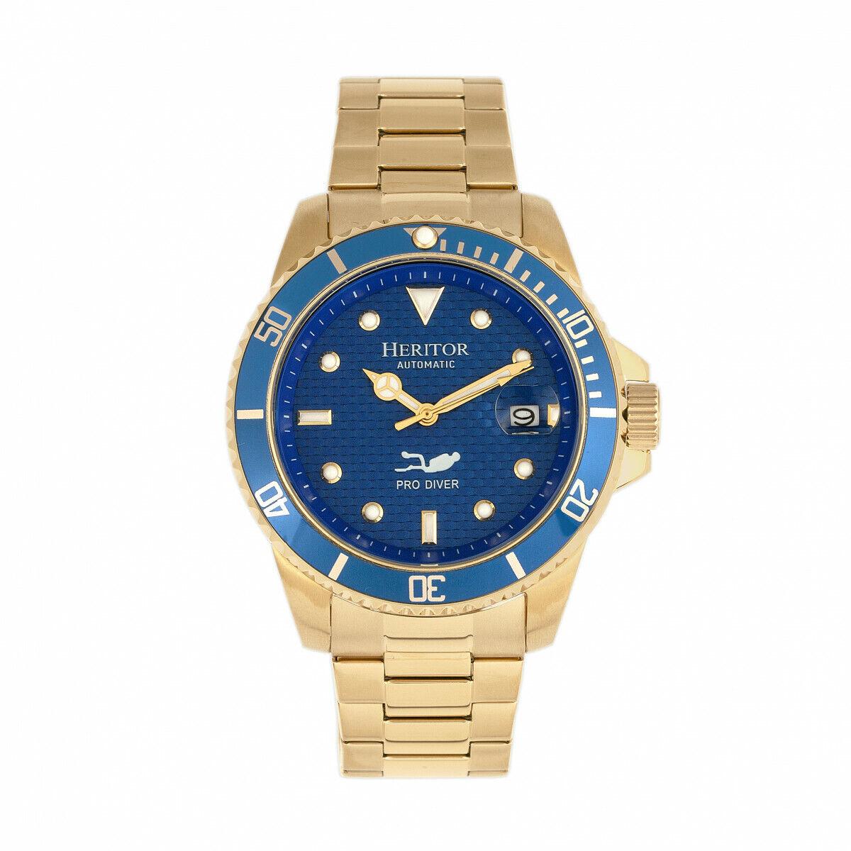 c798af6a9 Buy HERITOR Automatic Lucius Men's Pro Diver Gold Bracelet Watch W ...