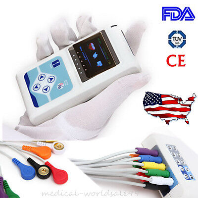 12-channel Holter Monitor Electrocardiogram Recorder Analysis Dynamic Ecg Ekg Ce
