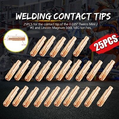 25 Contact Tips 11-35 For Tweco Mini1 Lincoln Magnum 100l Mig Welding Guns