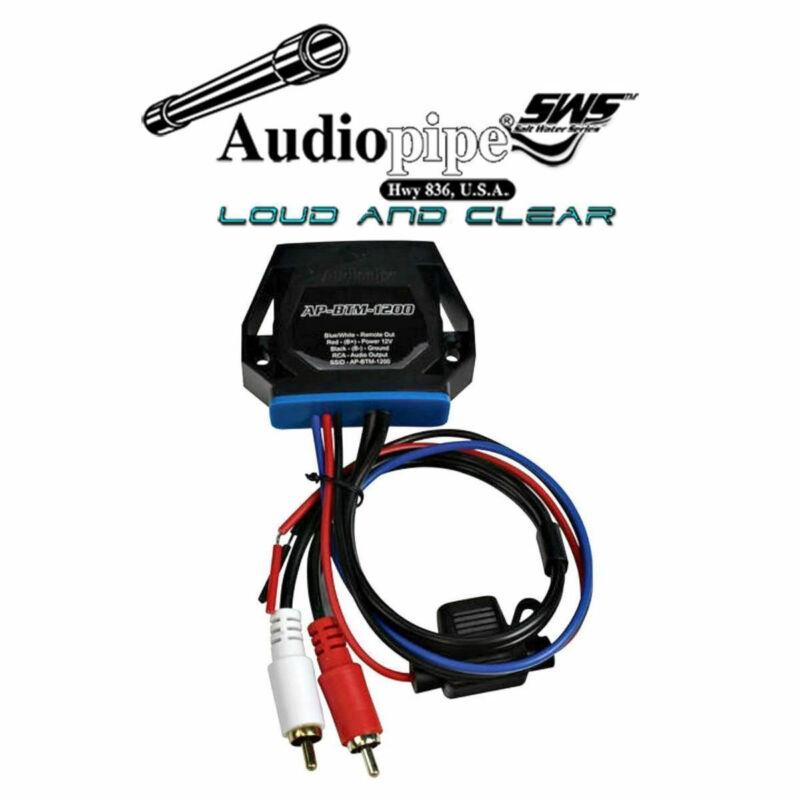 Marine Wireless Audio Receiver Converter Audiopipe AP-BTM-1200