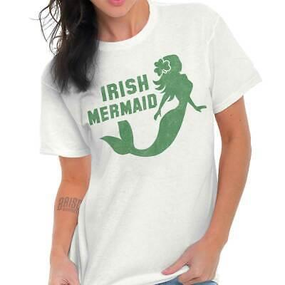 Irish Mermaid St Patrick Day Funny Shirt Cool Gift Patty Cute Ladies T Shirt Tee ()