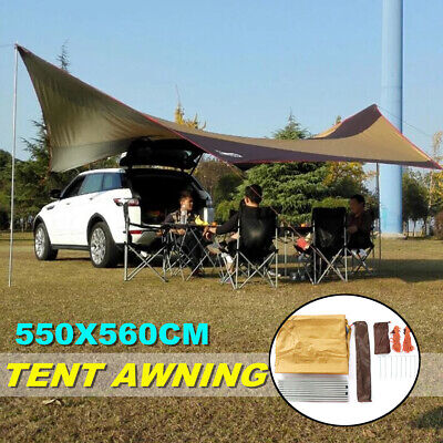 5m Large Portable Waterproof Car Tent Camping Sun Shelter Awning Canopy SU