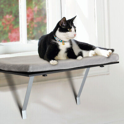 Cat Window Perch Mounted Shelf Bed for Pets  Easy Set-up  Mounted Hanging Sleep