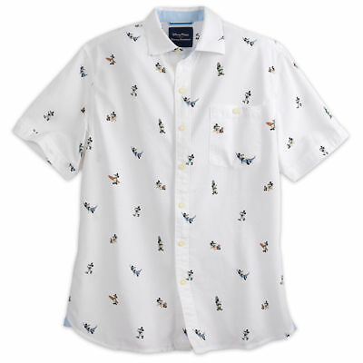 Disney Parks Collection Tommy Bahama White Vacation MIckey T Shirt Sz Large NEW