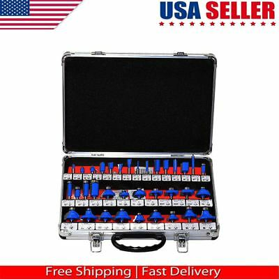 35pc Set Router Bit 14 Shank Tungsten Carbide Tip Router Bits Woodworking.tool
