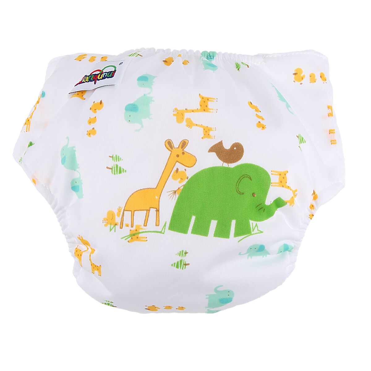 5pcs+ 5INSERT Lovely printing Adjustable Reusable Washable Cloth Diaper Nappies  Elephant
