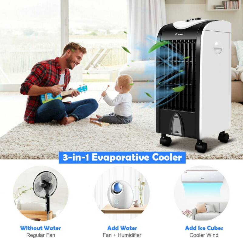 Evaporative Portable Air Conditioner Swamp Cooler Fan Contro