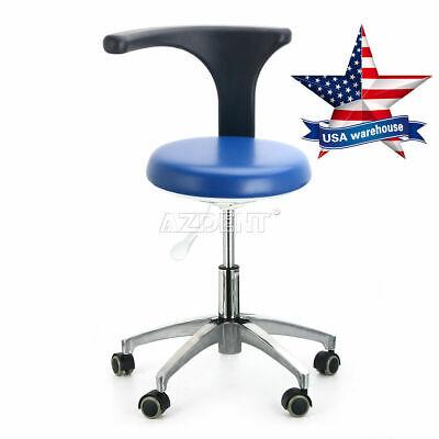 Usa Dental Pu Leather Adjustable Stool Hydraulic Rolling Stool Dentist Chair