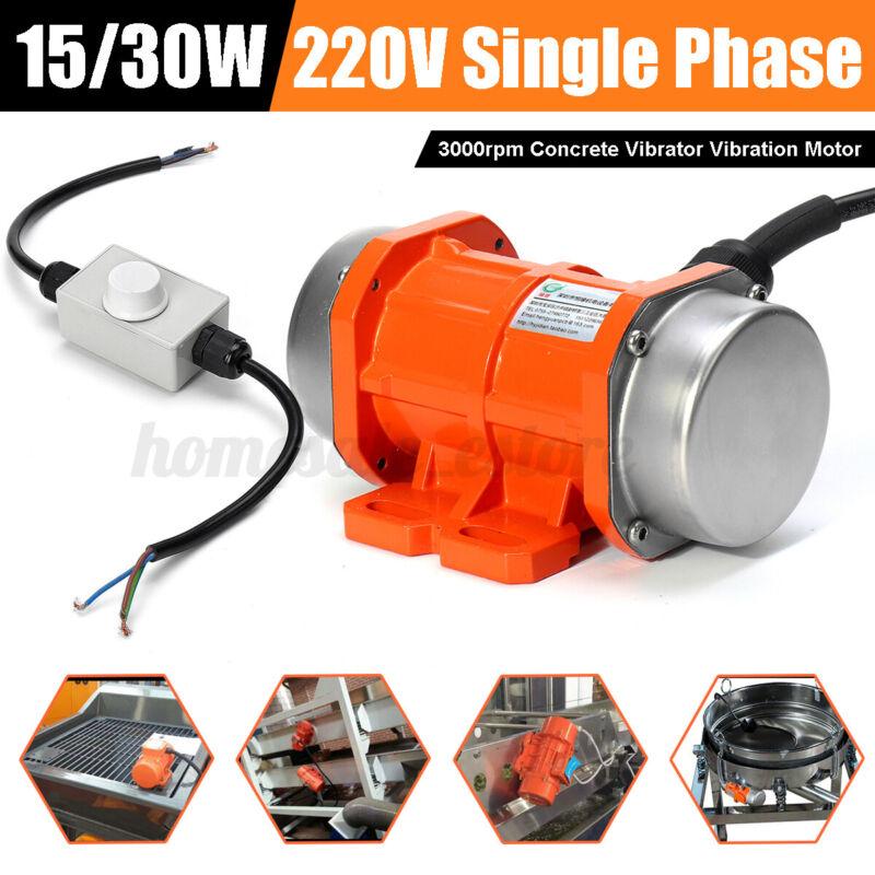 Concrete Vibrator Vibration Motor 15W/30W 220V 3000rpm Single Phase Aluminum All