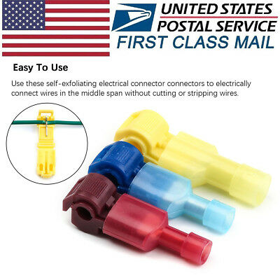 60x Insulated Electrical Wire Quick Splice Connectors&Male Spade Crimp -