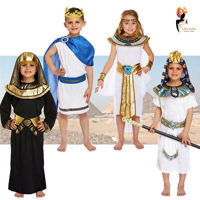 Egyptian King Queen Kids Book Week Fancy Dress Costumes Pharaoh Cleopatra](Egyptian Costume Kids)