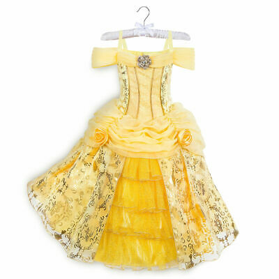 Disney Store Belle Deluxe Party Designer Dress Up Costume Beauty Beast Size 9/10](Party Costume Store)