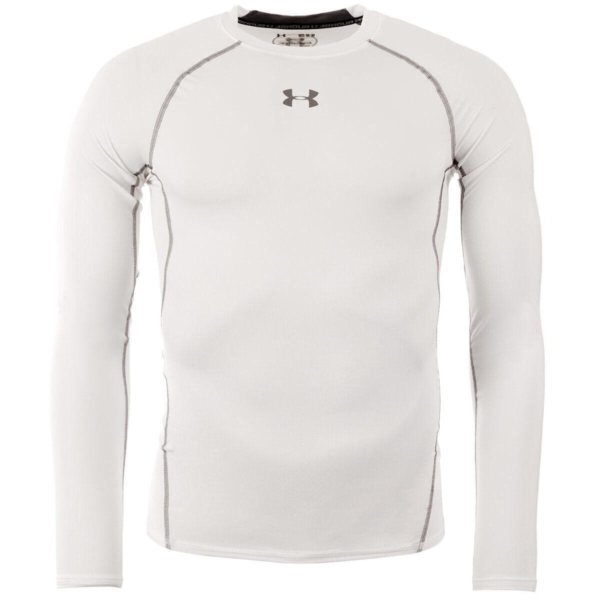 1257471-100 Mens Under Armour HeatGear Armour Long Sleeve Compression Shirt