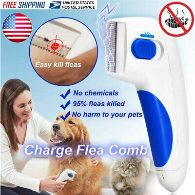 US Love Pets Dog & Cats Electronic Fur Flea Comb for Kills Stuns Flea Doctor