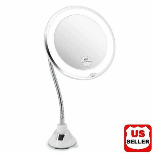 10X Gooseneck Magnifying Makeup Mirror Magnification Bathroom Mirror + LED Light Health & Beauty
