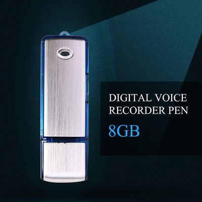 8GB Digital Diktiergerät SPY SPION SPIONAGE Aufnahmegerät Audio Voice Recorder