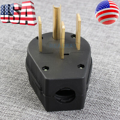 New 50a Power Plug For Nema 14-50p 8awg4c Sjoow Jacket Rubber Generator Cable