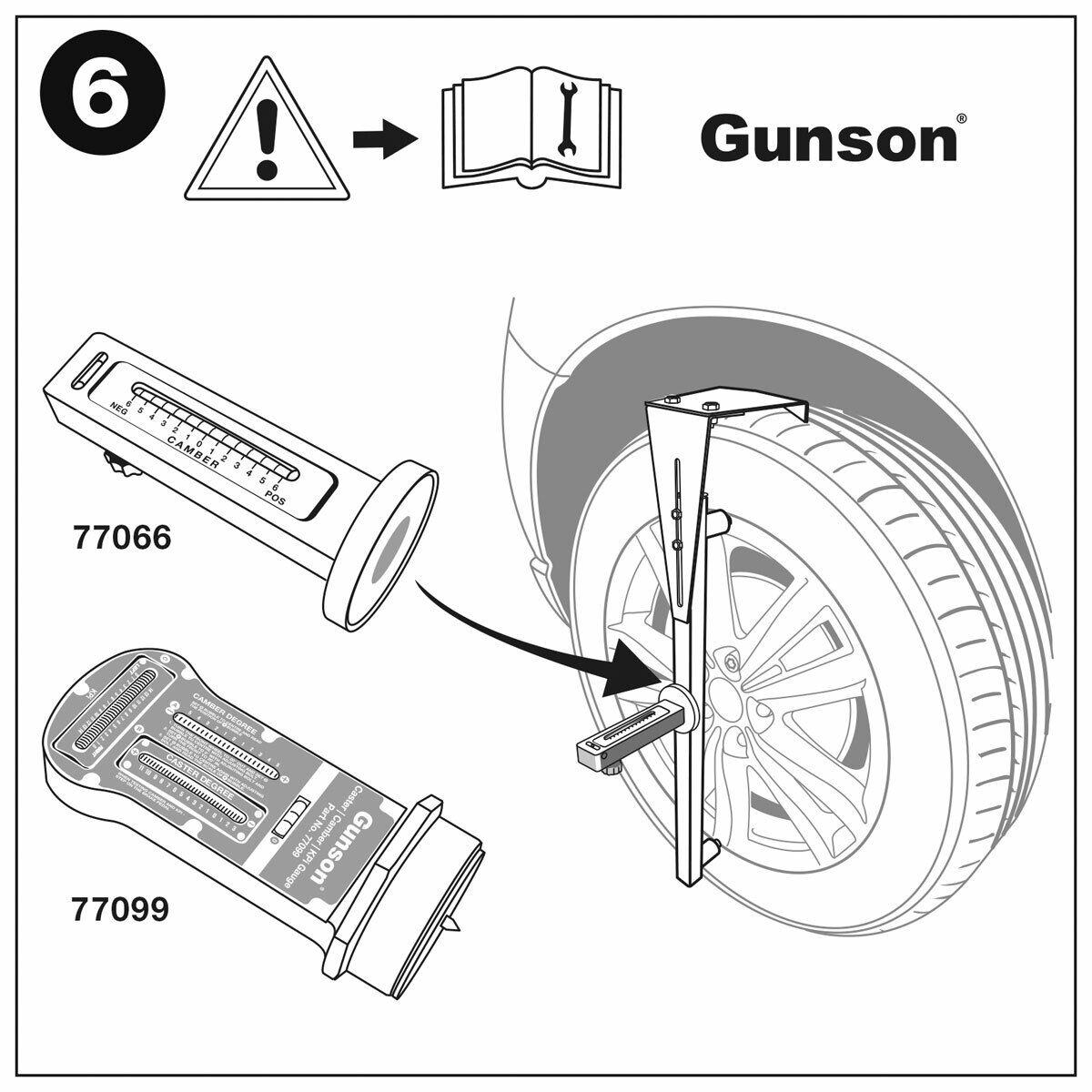 Gunson 77137 Trakrite Camber Bar Tool Adjustable for