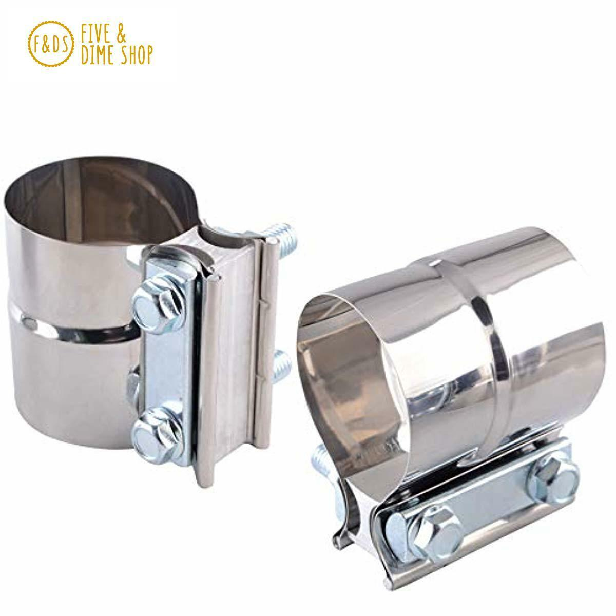 "2/"" Stainless Steel Lap Joint Exhaust Clamp for Catback Muffler Downpipe T304"