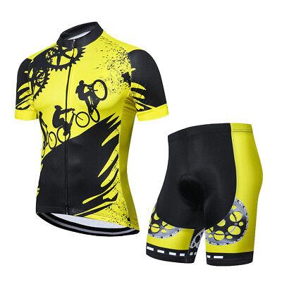 Yellow Cycling Gear Kit Men