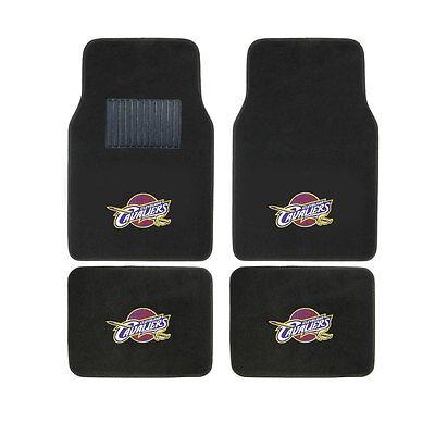 (New 4pcs NBA Cleveland Cavaliers Car Truck Front Rear Carpet Floor Mats Set)
