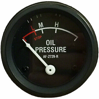 Oil Gauge R 70 80 720 820 730 830 840 Dash Mount Black Face John Deere Jd 1702