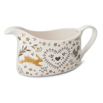 Cooksmart Woodland Gravy Boat Animal Nature Green Mustard Country Style Natur Gravy Boat
