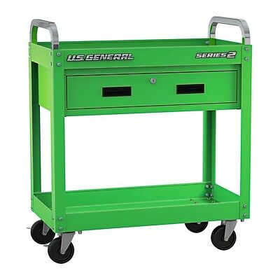 30 Steel Service Cart Wlocking Drawer W 4 Casters 350 Lbs. Working Load