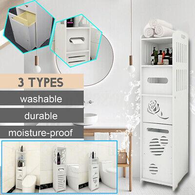 US Bathroom Corner Storage Shelf Display Toilet Home Cabinet Bath Sink  Corner Sink Cabinet