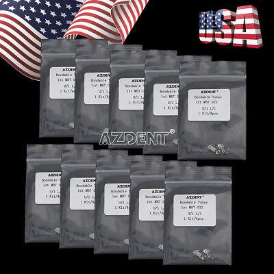 10 Packs Azdent Orthodontic Bondable Tubes 1st Molar Mbt 0 .022 Non-convertible