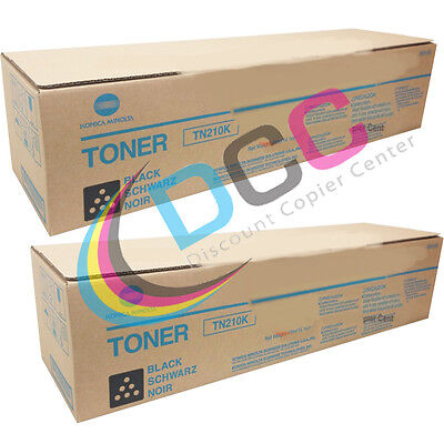 Tn210k Black Toner Cartridge Lot Of 2 For Bizhub C250 C252 8938505