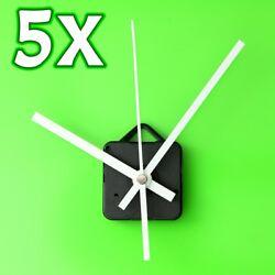 5Pcs DIY White Hands Wall Quartz Clock Mechanism Movement Repair Parts Kits Gift
