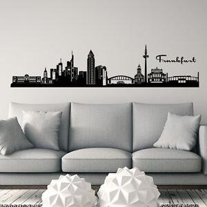 wandtattoo frankfurt wandtattoos wandbilder ebay. Black Bedroom Furniture Sets. Home Design Ideas