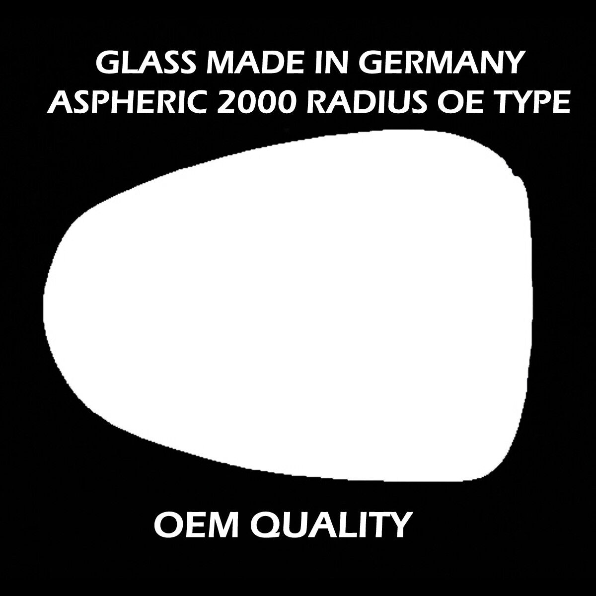 Vauxhall Zafira Tourer Mk3 2011-/> Heated Aspherical Mirror Glass Drivers Side