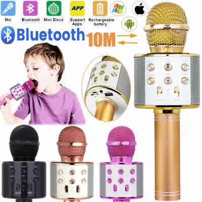 Wireless MIC Microphone Karaoke Handheld Bluetooth Portable Speaker KTV Mini