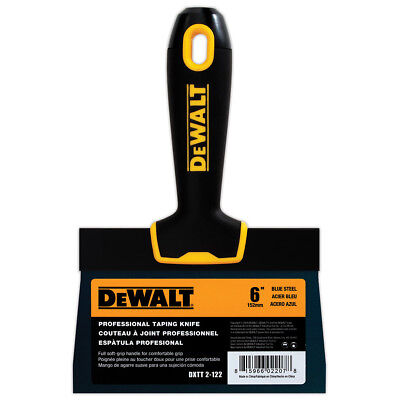 Dewalt Taping Knife 6 Premium Blue Steel Drywall Finishing Tool Soft-grip