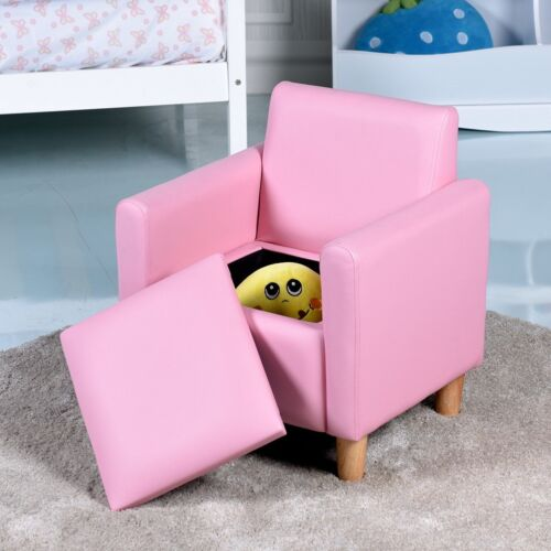 Kids Room Sofa Couch Armrest Chair Armchair Seat Storage Box