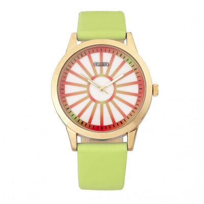 Crayo Eléctrico Mujer Verde Claro Reloj Correa Cuarzo CR5003