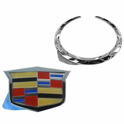 OEM Crest & Wreath Grille Emblem Kit Chrome for Cadillac CTS CTS-V New