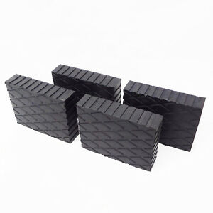 Solid Rubber Lift Block Pad  (6