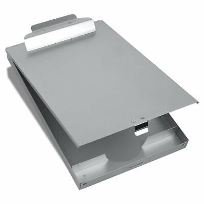 Metal Clipboard Storage Form Holder Portfolio Aluminum Binder Self Locking Box