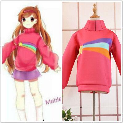 Mabel Gravity Falls Costume (Gravity Falls Mabel Costume Cosplay Pink Sweatshirts Hoodie)