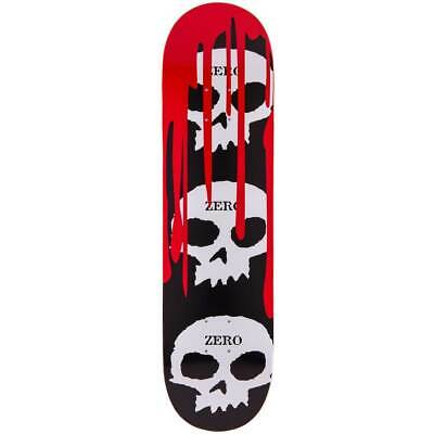Zero Skateboard Deck 3 Skulls with Blood 8.25""
