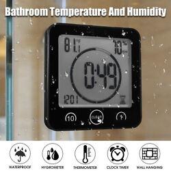 Waterproof Shower Clock Alarm Timer Suction Bath Bathroom Humidity Countdown